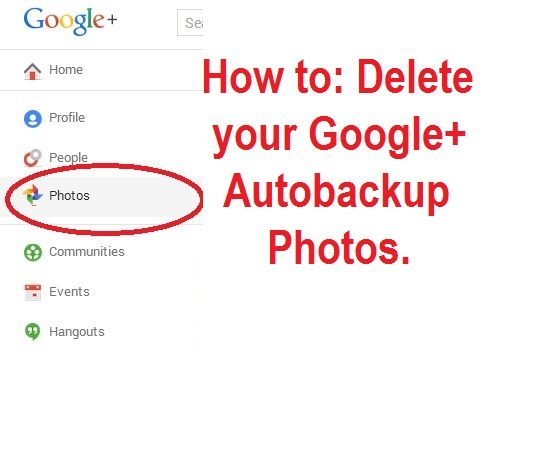 How can i delete my google autobackup photos