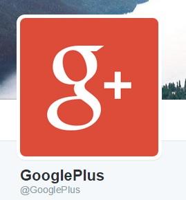 gplus- on twitter